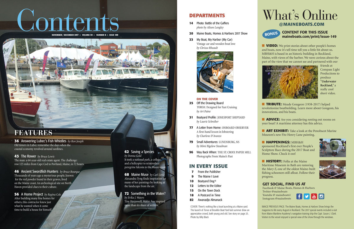 Issue 149 Table Of Contents Maine Boats Homes Harbors