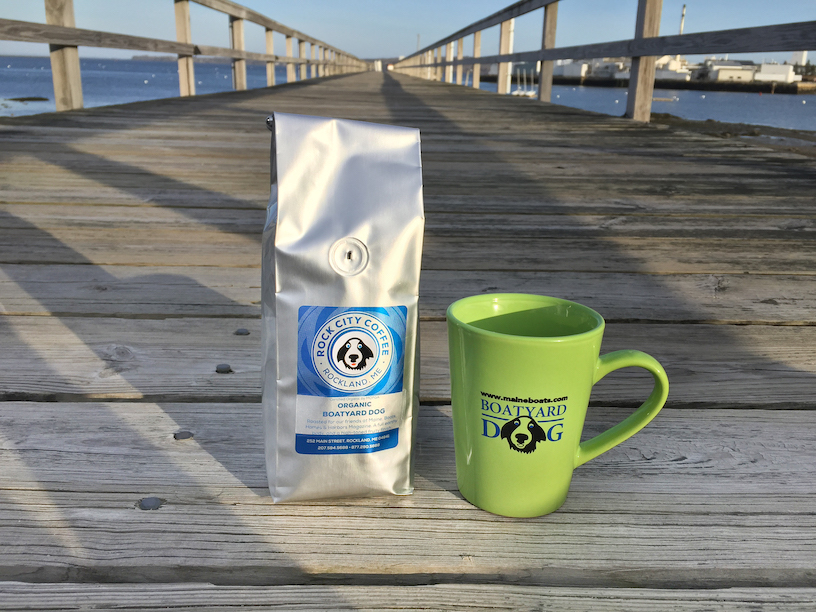 MBH&H special unique organic Boatyard Dog (R) blend coffee and mug!