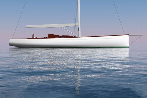 Brooklin Boat Yard Building second Botin Partners custom sailing yacht