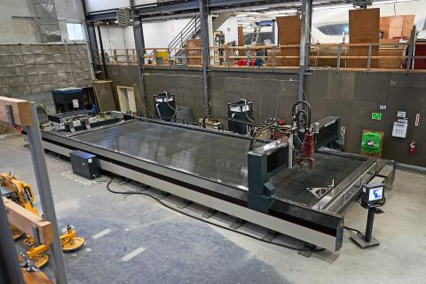 Big new water jet cutting machine takes Front Street to the next level
