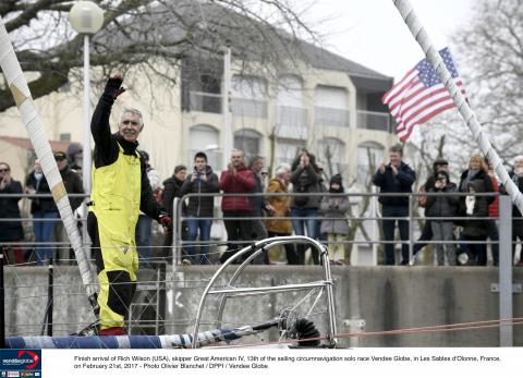 American Rich Wilson sails to 13th place finish in grueling Vendee Globe