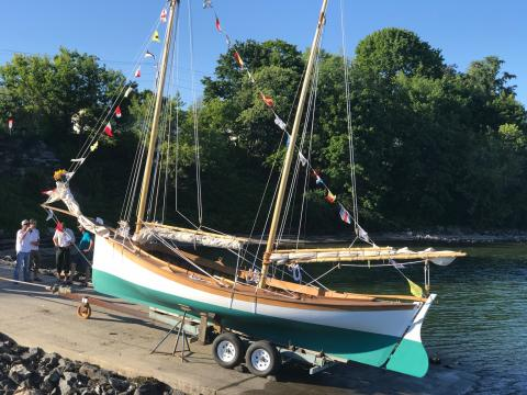 Apprenticeshop launches Mackinaw ketch