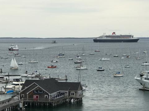 Huge ocean liner makes a stop in Rockland, Maine