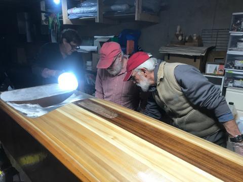 John Hanson builds an ice boat