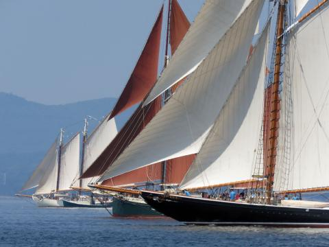 Schooner Mary Day wins Great Schooner Race by just four seconds on corrected time