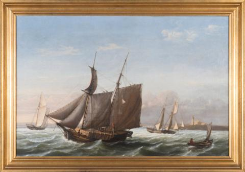 Museum is given Fitz Henry Lane painting of a Maine lumber schooner
