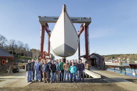 Brooklin Boat, Rockport Marine partner on 91-footer