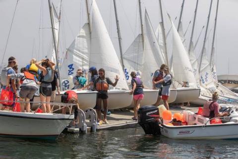 Racing set for junior sailors