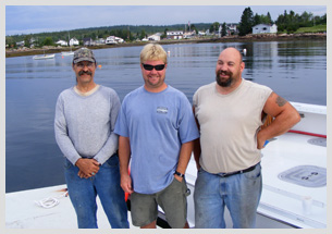 Sargents Custom Boats crew