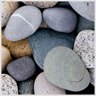 Stones on a Maine beach