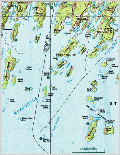 Adventures Gizmo Eastern Egg Rock Maine Boats Homes Harbors - Map of eastern maine