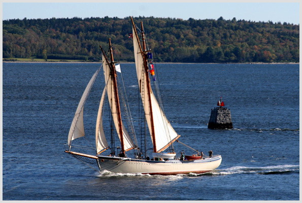 Schooner off Fort Point State Park