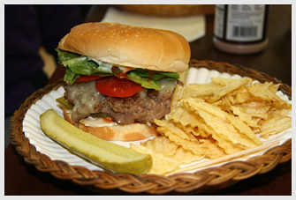 Owls Head General Store Seven Napkin Burger