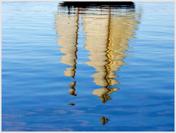Sail Reflection on the water