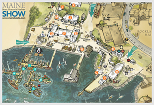 Maine Boats Homes Harbors Show Maps Parking Directions