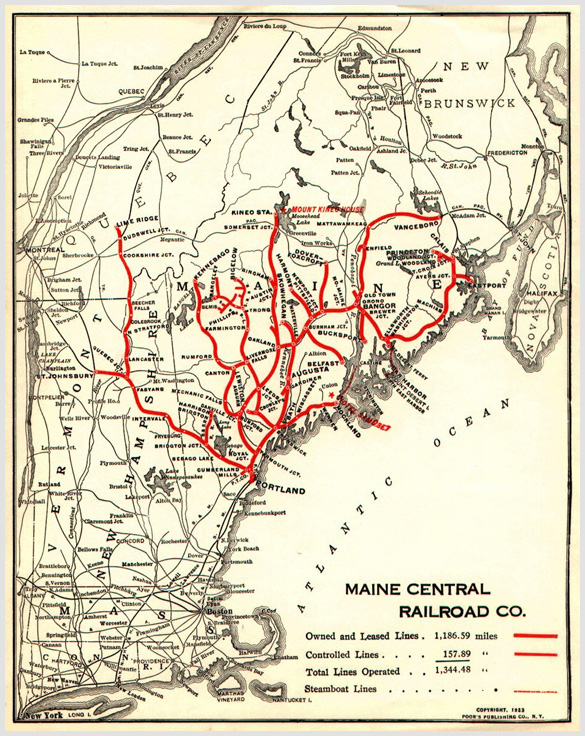 To Rockland By Rail  The Route  Maine Boats Homes Amp Harbors