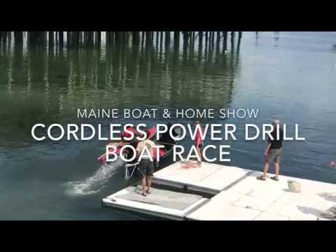 Embedded thumbnail for Maine Boat & Home Show Cordless power drill boat race